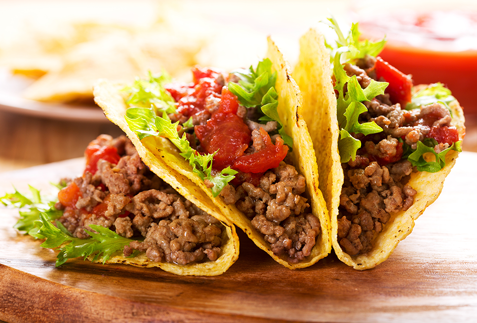 An image of ground beef tacos.